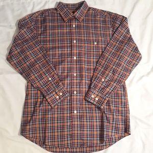 Orvis Men's button down Plaid shirt size L